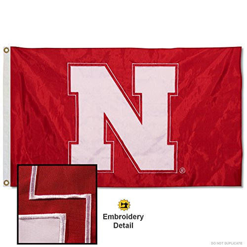 University of Nebraska Cornhuskers Embroidered and Stitched Nylon Flag