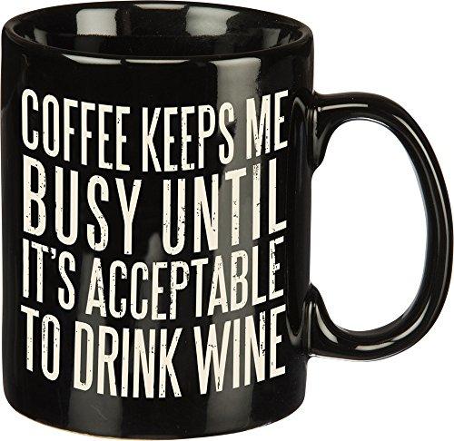 Primitives By Kathy 28559 Box Style Coffee Mug, 20 oz,