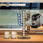ShangSky-Porta-Capsule-per-caffe-Porta-Capsule-Nespresso-Porta-caffe-in-Ferro-Placcato-Porta-Capsule-Girevole-per-caffe-in-Cactus-Dispenser-portaoggetti