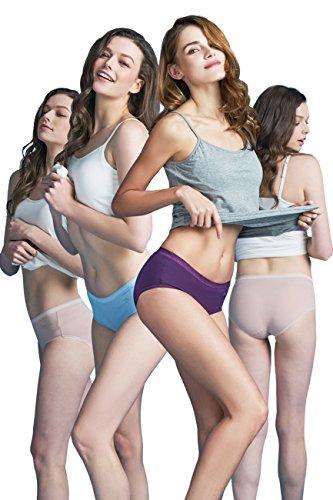 SANQIANG Women's 4 Pack Cotton Bikini Panties Comfort Sexy Underwear (XXL, Color2)