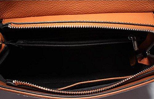 Borsa Tracolla A Della Alta Chaoyang Black Brown Capacità Pelle Femminile Grande female Minimalista Vacchetta Opaco Di In twRf5E5q