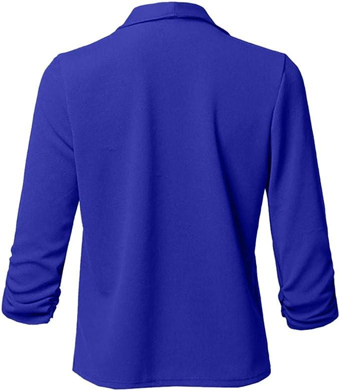 LOPILY Basic Boleros Gro/ße Gr/ö/ßen Damen D/ünne Umhangjacke R/üschen Blazer Elegante Herbstjacke Damen /Übergangsjacke Cardigan 48 Weiches Pullover Damen Casual L/ässgies Outwear Sweatshirts