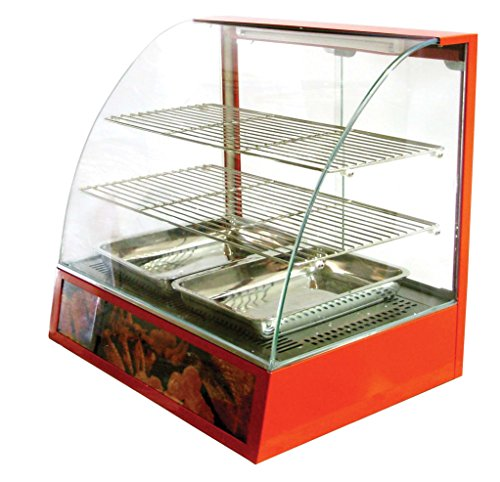 Omcan 21479 Commercial Curved Glass Hot Food Warmer Display Merchandiser Case by Omcan