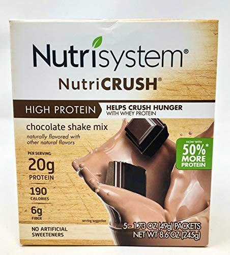 Nutrisystem Nutricrush High Protein Chocolate Shake Mix – 5 1.73oz Packets