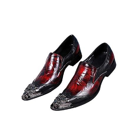 ZZXHG Zapatos de Cuero Hermosos y firmes de los Hombres ...