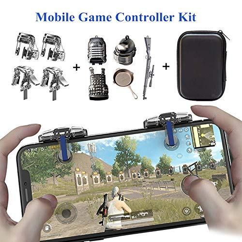 PUBG Mobile Game Controller [4 Triggers+5 Keychains] - Aovon Sensitive Shoot Aim Joysticks Physical...