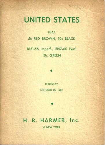 United States 1847 5 c Red Brown, 10c Black 1851-56 Imperf., 1857-60 Perf. 10c Green ()