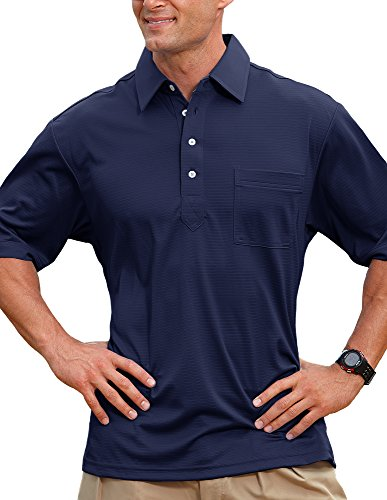 Pro Celebrity Men's Members Only Polo Shirt (Large, Navy)