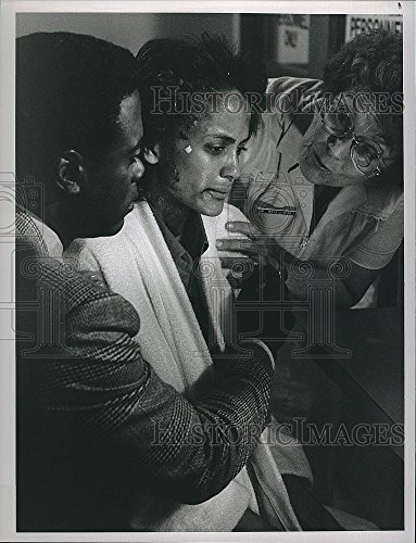 Historic Images 1989 Press Photo Howard Rollins & Anne-Marie Johnson In The Heat Of The Night