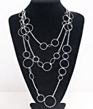 premier designs Jewelry Round and Round Silver Plated Necklace RV$39