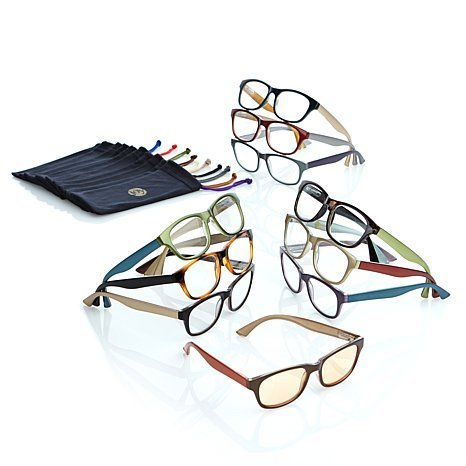 JOY MANGANO 20-PIECE READING GLASSES COUTURE SHADES READERS WITH SMART LENSES AND DESIGNER FRAMES +3.50 by Joy ()