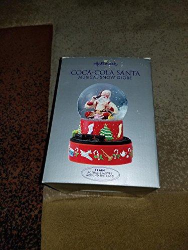 Hallmark 2001 Coca-Cola Santa Musical Snow Globe (Snow Santa)