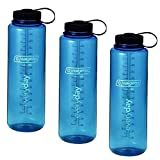 Nalgene Silo 48oz Tritan Wide Mouth Bottle - 3 Pack (Blue)