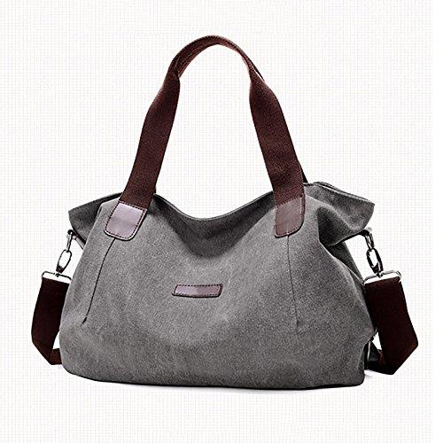 Viajes De Hombro Crossbody Lona Mujer Grey Coafit Para Bolso CBwqg4R