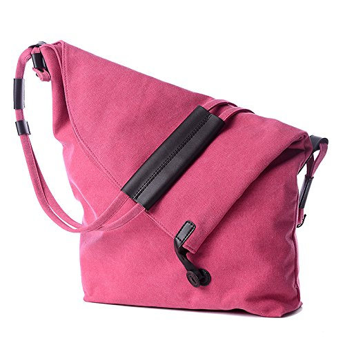 de lkklily de canvas roja hombro bolso all Rosa bolsa Rosa match bolsa roja lona moda bolsa de w4gSwz