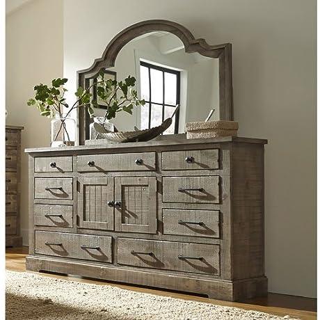 Progressive Furniture P632 24 Meadow Door Dresser 66 X 18 X 40 Grey