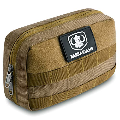 Barbarians Tactical Admin Pouch Military MOLLE Pouch for Tools Map Magazine Tan