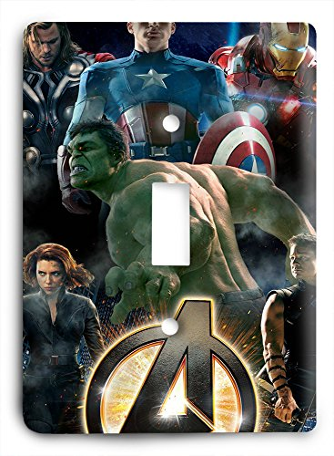 The Avengers Unite Hulk Captain American Thor Iron Man Light Switch Cover (Will Light Switch Covers)