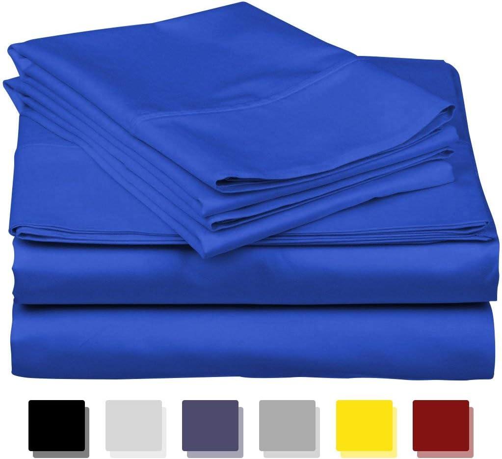 LUXURIOUS BEDDING Juego de sábanas algodón Egipcio de 800 Hilos, 6 ...