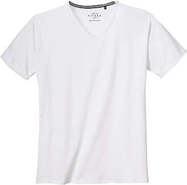 Camiseta elástica básica Blanca de Kitaro en Talla XXL: Amazon.es: Ropa y accesorios