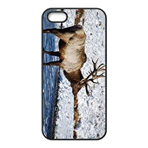 The Deer And Snow Hight Quality Plastic Case for Iphone 5s