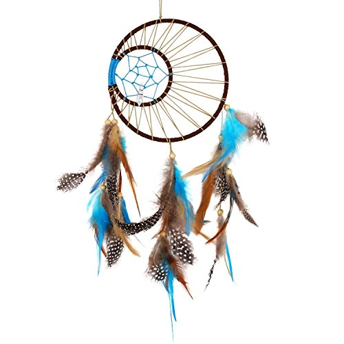 Soledi Dream Catcher Wall Hanging Ornament India Style Car Handmade Dream Catcher Circular Net With Feathers Decoration Decor Ornament Craft Gift