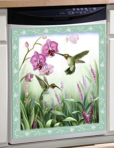 Spring Hummingbird Magnetic Dishwasher Cover