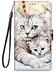 Miagon Full Body Wallet Case for Huawei Y6 2019,Colorful Pattern Design PU Leather Flip Cover with Magnetic Closure Stand Card Slot,Mother and Child