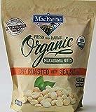 MacFarms ORGANIC Dry Roasted Macadamia Nuts With Sea Salt Fresh From Hawaii 20 oz (1 Pack)