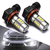 #1: H11/H16/H8 LED Fog Lights Bulbs or DRL, DOT Approved, SEALIGHT Xenon White 6000K, 27 SMD, 2 Yr Warranty (Pack of 2)
