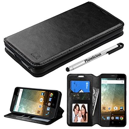 watch 6d508 7833d Phonelicious (Tm) Wallet Case Series For ZTE MAVEN 2 GoPhone PU Leather  Premium Pouch ID Credit Card Cover Flip Folio Book Style with Money Slot  +Pen ...