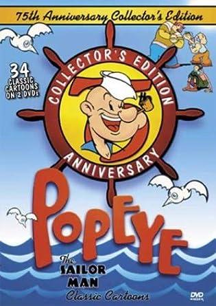 Amazon Com Popeye The Sailor Man 75th Anniversary Collectors