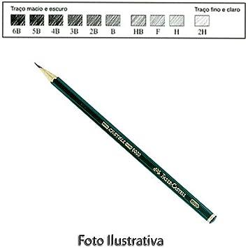 20af817083 Lápis Grafite Sextavado Faber-Castell 9000 H - Ref. 9000H  Amazon ...