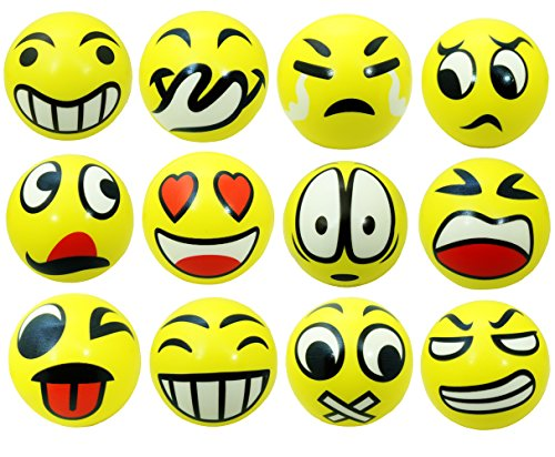 12 Emoji Stress Ball Squeeze product image
