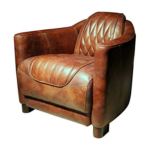 Coja by Sofa4life Honby Top Grain Leather Club Chair, (Verona Club Chair)