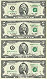 2003 Uncut Jefferson $2 Bills (Qty4) in Portfolio - World Reserve Monetary Exchange Set