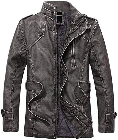 Winter Warm Men Leather Jackets Men`s Pu Leather Jacket Outerwear Male Thick Leather Jackets