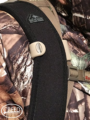 Sling Saddle Shoulder Clip, By Creed Outdoor Products, Carry Your Rifle HANDS FREE, Easily Hooks to your Rifle Sling and holds your gun securely to your body. Rifle Sling Holder (Tan)