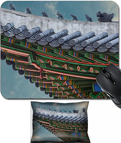 MSD Mouse Wrist Rest and Small Mousepad Set, 2pc Wrist Support design 34624426 The gable roof of Deoksugung palace Seoul South Korea