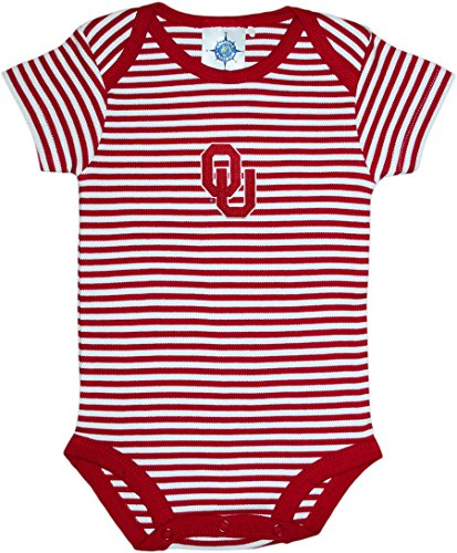 University of Oklahoma Sooners Striped Newborn Baby Bodysuit,Crimson,6-9 ()