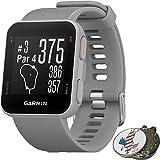 Garmin Approach S10 Golf GPS Watch, Powder Gray + 1 Custom Ball Marker