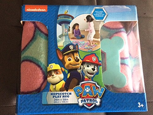 Hopscotch Game Rug (Paw Patrol Hopscotch Game Rug Pink and Blue 26