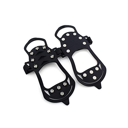 Amazon Com Carrie Ful Traction Cleats Ice Snow Grips With 11 Spikes