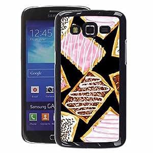 A-type Arte & diseño plástico duro Fundas Cover Cubre Hard Case Cover para Samsung Galaxy Grand 2 (Cookie Glaze Sweet Pink Dessert Food)