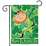 st patricks outdoor flags - Lucky Leprechaun St. Patrick's Day Garden Flag Shamrocks Irish 12.5