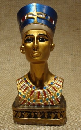 Amazon.com: Busto de máscara de la Reina Nefertiti Nefertari ...