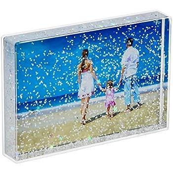 niubee 4x6 glitter liquid photo frame clear plastic acrylic floating sparkle. Black Bedroom Furniture Sets. Home Design Ideas