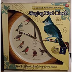 National Audubon Society Singing Bird Clock As Seen On Tv Brown