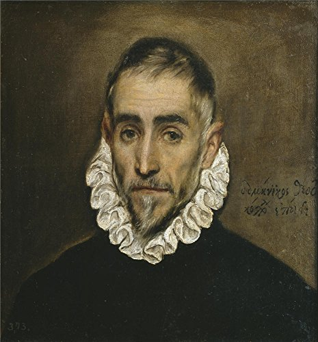 Perfect Effect Canvas ,the Cheap But High Quality Art Decorative Art Decorative Canvas Prints Of Oil Painting 'El Greco Aged Nobleman 1587 1600 ', 10 X 11 Inch / 25 X 27 Cm Is Best For Home Theater Gallery Art And Home Decoration And Gifts