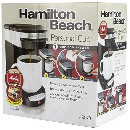 photo Wallpaper of Hamilton Beach-Hamilton Beach 12 Ounce One Touch Personal Cup Pod Coffee Brewer, Black (2-Black
